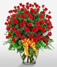 Görsel vazo içerisinde 101 adet gül  İzmit İnternetten çiçek siparişi