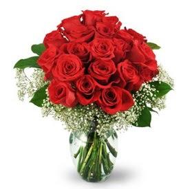 25 adet kırmızı gül cam vazoda  İzmit anneler günü çiçek yolla