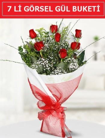 7 adet kırmızı gül buketi Aşk budur  İzmit 14 şubat sevgililer günü çiçek