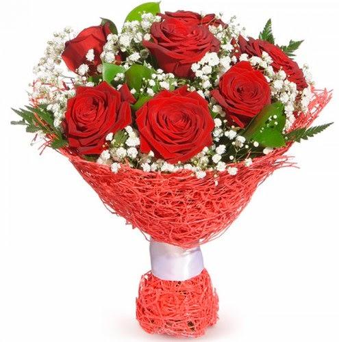 7 adet kırmızı gül buketi  İzmit güvenli kaliteli hızlı çiçek