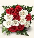 İzmit anneler günü çiçek yolla  10 adet kirmizi beyaz güller - anneler günü için ideal seçimdir -