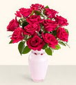 İzmit çiçek online çiçek siparişi  10 kirmizi gül cam yada mika vazo tanzim