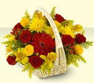 İzmit çiçek gönderme  sepette mevsim çiçekleri