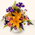 İzmit çiçek gönderme  sepet içinde karisik çiçekler