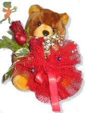 oyuncak ayi ve gül tanzim  İzmit güvenli kaliteli hızlı çiçek