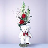 2 adet gül ve panda özel  İzmit çiçek servisi , çiçekçi adresleri