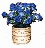 yapay mavi çiçek sepeti  İzmit çiçek gönderme sitemiz güvenlidir