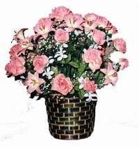 yapay karisik çiçek sepeti  İzmit çiçek , çiçekçi , çiçekçilik