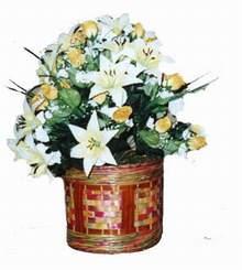 yapay karisik çiçek sepeti   İzmit çiçek gönderme sitemiz güvenlidir