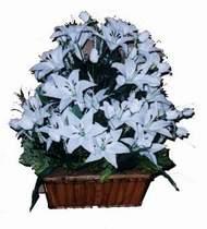 yapay karisik çiçek sepeti   İzmit çiçek yolla , çiçek gönder , çiçekçi