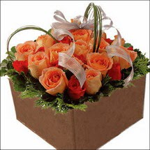 kare sandikta 11 gülllerden   İzmit çiçek servisi , çiçekçi adresleri