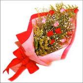12 adet renkli  gül buketi   İzmit çiçek servisi , çiçekçi adresleri