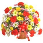 karisik renkli çiçek sepet   İzmit online çiçek gönderme sipariş