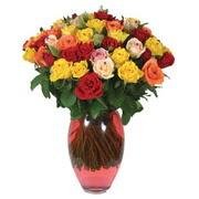 51 adet gül ve kaliteli vazo   İzmit online çiçek gönderme sipariş