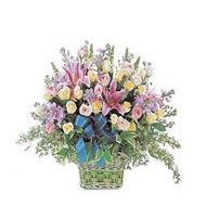 sepette kazablanka ve güller   İzmit cicekciler , cicek siparisi