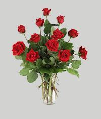 İzmit çiçek gönderme sitemiz güvenlidir  11 adet kirmizi gül vazo halinde