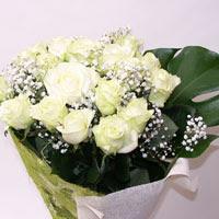 İzmit çiçek online çiçek siparişi  11 adet sade beyaz gül buketi