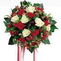 İzmit hediye sevgilime hediye çiçek  6 adet kirmizi 6 adet beyaz ve kir çiçekleri buket