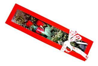 İzmit çiçek online çiçek siparişi  Kutuda 3 adet gül