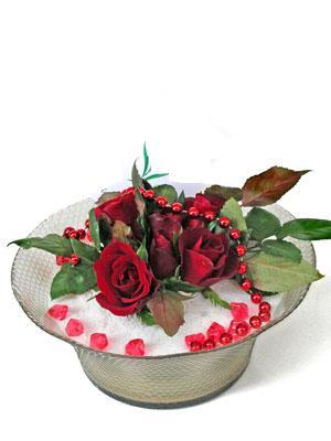 İzmit online çiçekçi , çiçek siparişi  EN ÇOK Sevenlere 7 adet kirmizi gül mika yada cam tanzim