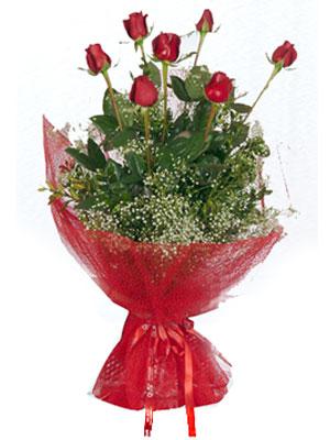 İzmit ucuz çiçek gönder  7 adet gülden buket görsel sik sadelik
