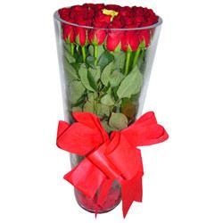 İzmit çiçek , çiçekçi , çiçekçilik  12 adet kirmizi gül cam yada mika vazo tanzim