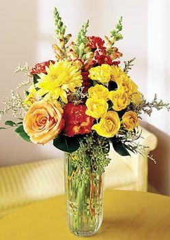 İzmit çiçek gönderme  mika yada cam içerisinde karisik mevsim çiçekleri