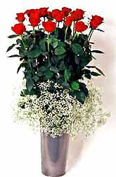 İzmit İnternetten çiçek siparişi  9 adet kirmizi gül cam yada mika vazoda