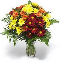 İzmit çiçek mağazası , çiçekçi adresleri  Karisik çiçeklerden mevsim vazosu