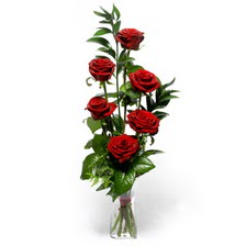 İzmit çiçek yolla  mika yada cam vazoda 6 adet essiz gül