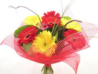 9 adet gerbera çiçeklerinden buket  İzmit 14 şubat sevgililer günü çiçek