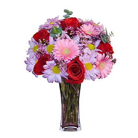 Görsel hediye karisik cam mevsim demeti  İzmit çiçek servisi , çiçekçi adresleri