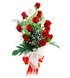 11 adet kirmizi güllerden görsel sölen buket  İzmit online çiçekçi , çiçek siparişi