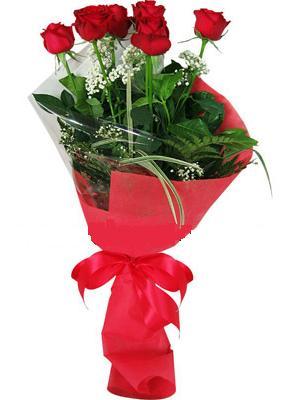 7 adet kirmizi gül buketi  İzmit internetten çiçek siparişi