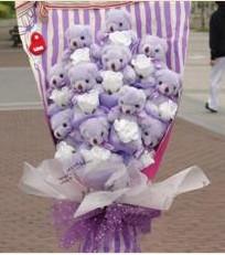 11 adet pelus ayicik buketi  İzmit online çiçek gönderme sipariş
