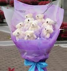 11 adet pelus ayicik buketi  İzmit hediye sevgilime hediye çiçek