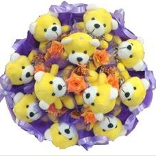 11 adet pelus ayicik buketi  İzmit hediye çiçek yolla