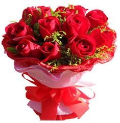 9 adet kirmizi güllerden kipkirmizi buket  İzmit güvenli kaliteli hızlı çiçek