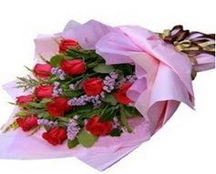11 adet kirmizi güllerden görsel buket  İzmit online çiçek gönderme sipariş