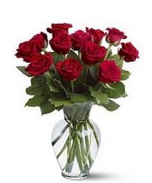 İzmit online çiçek gönderme sipariş  cam yada mika vazoda 10 kirmizi gül