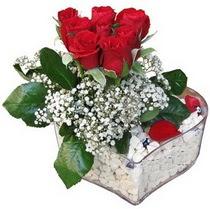 İzmit çiçek siparişi sitesi  kalp mika içerisinde 7 adet kirmizi gül