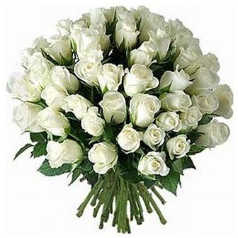 İzmit ucuz çiçek gönder  33 adet beyaz gül buketi