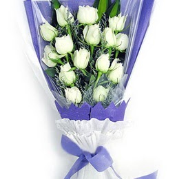 İzmit çiçek servisi , çiçekçi adresleri  11 adet beyaz gül buket modeli