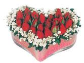 İzmit uluslararası çiçek gönderme  mika kalpte kirmizi güller 9