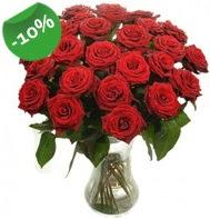 Vazo içerisinde 25 adet kırmızı gül  İzmit İnternetten çiçek siparişi
