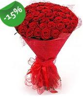51 adet kırmızı gül buketi özel hissedenlere  İzmit çiçek mağazası , çiçekçi adresleri