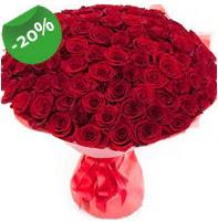 Özel mi Özel buket 101 adet kırmızı gül  İzmit çiçekçi telefonları