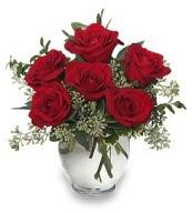 Vazo içerisinde 5 adet kırmızı gül  İzmit çiçek servisi , çiçekçi adresleri