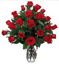 İzmit çiçek mağazası , çiçekçi adresleri  24 adet kırmızı gülden vazo tanzimi