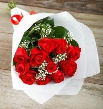 9 kırmızı gülden buket çiçeği  İzmit cicekciler , cicek siparisi